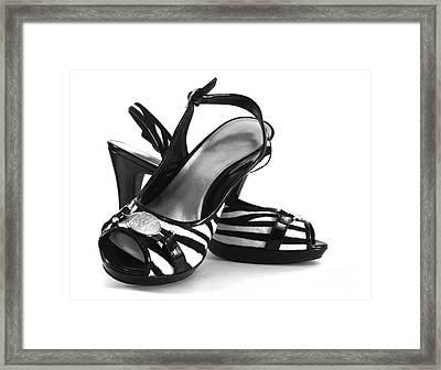 Zebra Print Pumps Framed Print by Blink Images