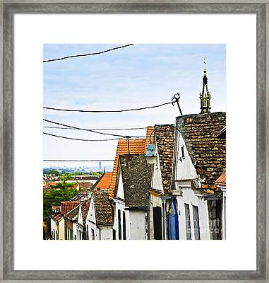 Zemun Rooftops In Belgrade Framed Print