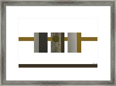 Zen Abstract Composition Framed Print by Xoanxo Cespon