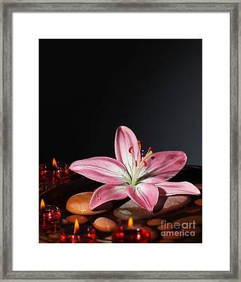 Zen Atmosphere At Spa Salon Framed Print by Anna Om