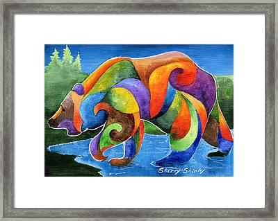 Zen Bear Framed Print by Sherry Shipley