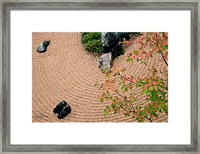 Zen Buddhist Meditation Garden No.1 Framed Print by Iuliana Pacso