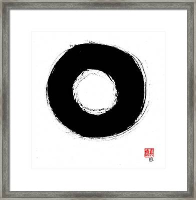 Zen Circle Seven Framed Print