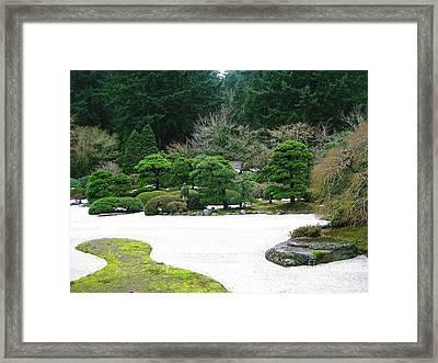 Zen Garden Framed Print by Melissa Stinson-Borg