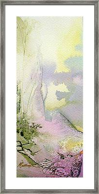Framed Print featuring the painting Zen Mountain by Mary Sullivan