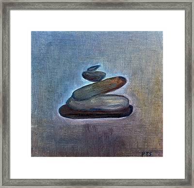 Zen Stones Framed Print by Prachi  Shah