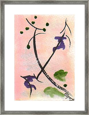 Framed Print featuring the painting Zen Study 01 by Paula Ayers