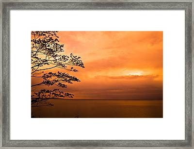 Zen Sunset Framed Print by Jason Naudi