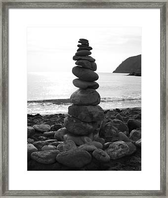 Framed Print featuring the photograph Zen Tower by Ramona Johnston