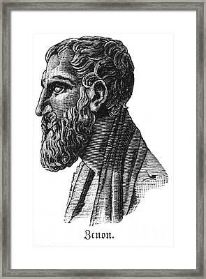 Zeno Of Elea (c495-c430 B.c.) Framed Print by Granger