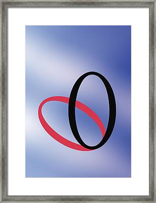 Zero - Concept And Symbol Framed Print
