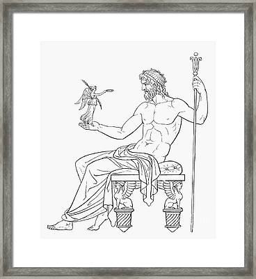 Zeus And Athena Framed Print by Granger