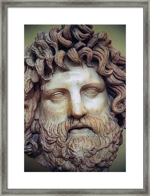 Zeus Head Framed Print by Andonis Katanos