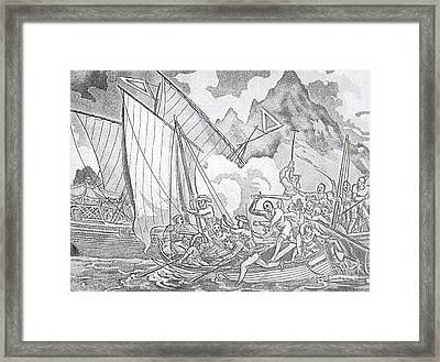 Zheng Yis Pirates Capture John Turner Framed Print by Photo Researchers