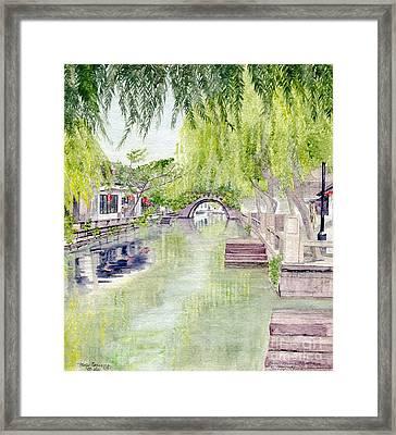 Zhou Zhuang Watertown Suchou China 2006 Framed Print