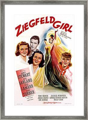 Ziegfeld Girl, Judy Garland, James Framed Print by Everett