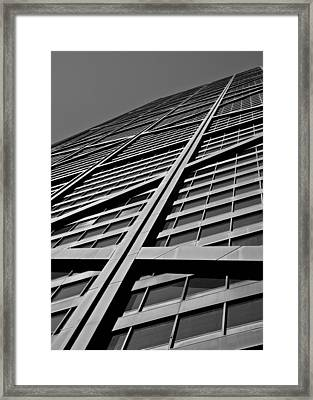 Zig-zagging To The Top Framed Print by Daniel Chen