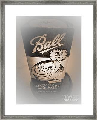 Zinc By Ball Framed Print