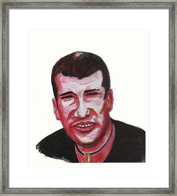 Zinedine Zidane 02 Framed Print by Emmanuel Baliyanga