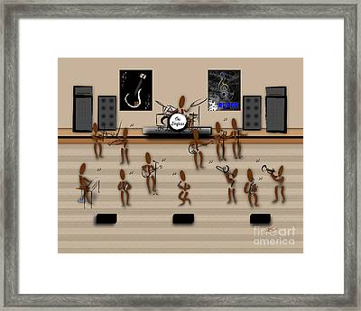 Zinglees-the Blues Band Framed Print by Linda Seacord