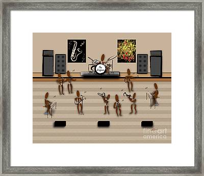 Zinglees-the Jazz Band Framed Print by Linda Seacord