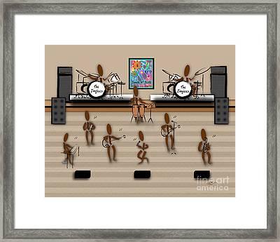 Zinglees-the Rock Band Framed Print