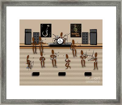 Zinglees-the Southern Rock Band Framed Print by Linda Seacord
