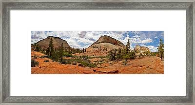 Zion Checkerboard Mesa And Hoodoos Framed Print by Gregory Scott