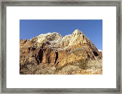Zion Cliffs Framed Print by Bob and Nancy Kendrick