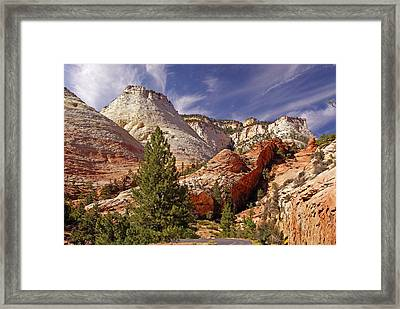 Framed Print featuring the photograph Zion Np by Rod Jones
