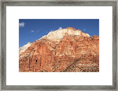 Zion Red Rock Framed Print by Bob and Nancy Kendrick
