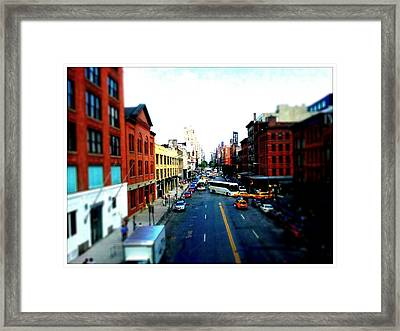 Zip New York Framed Print