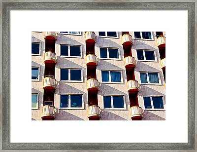 Framed Print featuring the photograph Zodiac Apartments by Justin Albrecht