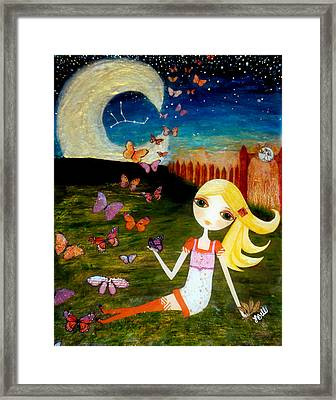 Zodiac Virgo Framed Print by Laura Bell
