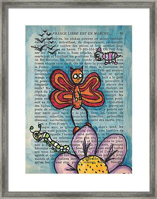Zombie Butterfly Framed Print by Jera Sky