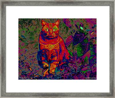Zombie Cat Framed Print