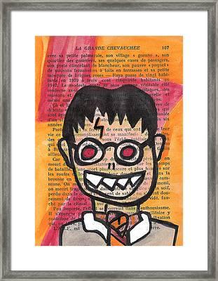 Zombie Harry Potter Framed Print by Jera Sky