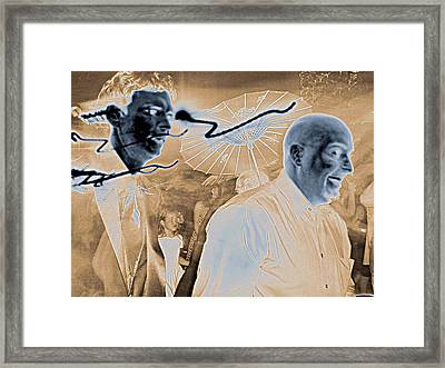 Framed Print featuring the photograph Zombie Line by Rdr Creative