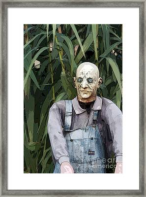 Zombies In The Corn Framed Print