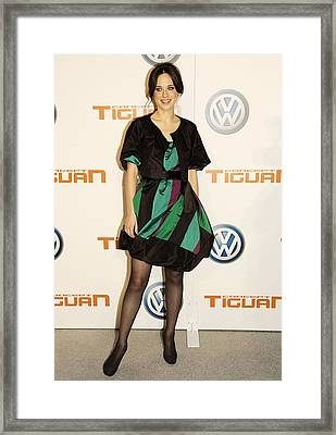 Zooey Deschanel At Arrivals For Concept Framed Print by Everett