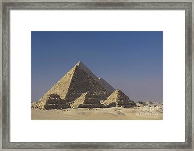 Zoser And Giza Pyramids Framed Print