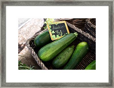 Zucchini Framed Print by Tanya Harrison