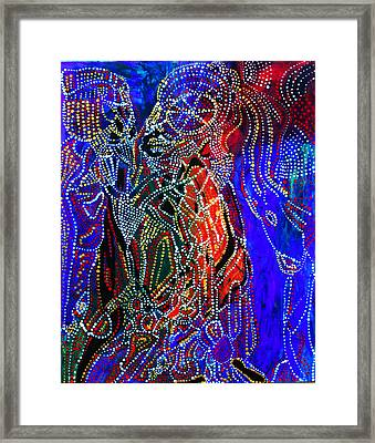 Framed Print featuring the painting Zulu Bride by Gloria Ssali