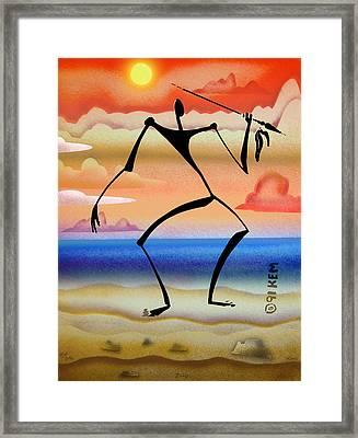 Zulu Framed Print by Kevin McDowell