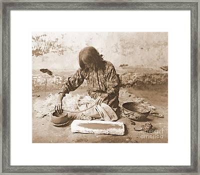 Zuni Potter Framed Print by Padre Art