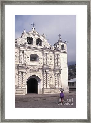 Framed Print featuring the photograph Zunil Church Guatemala by John  Mitchell
