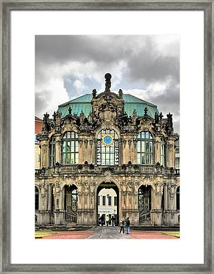 Zwinger Dresden - Carillon Pavilion - Caution Fragile Framed Print by Christine Till