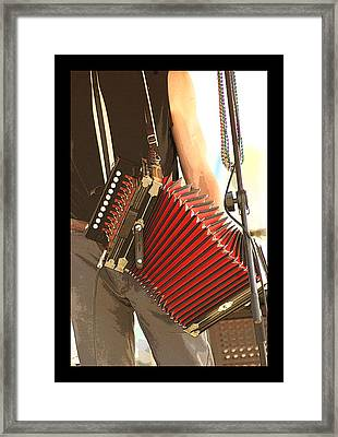 Zydeco Red Accordian Framed Print by Margie Avellino