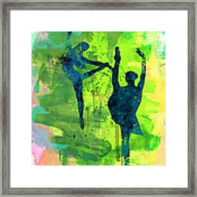 Ballet Watercolor 1 Framed Print by Naxart Studio