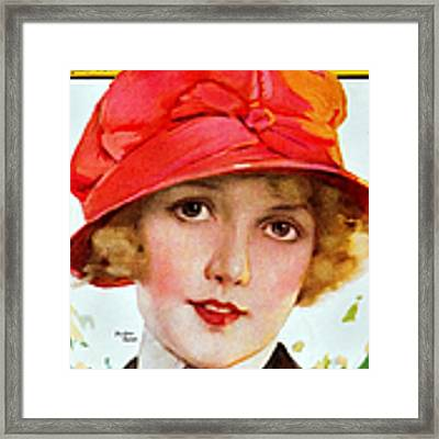 1920s Usa Photoplay Magazine Cover Framed Print by The Advertising Archives